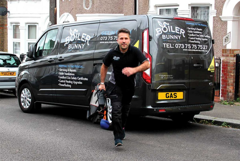 A local heating contractor, from Boiler Bunny Heating, rushing to an emergency Vaillant boiler repair in South London, Forest Hill - SE23.