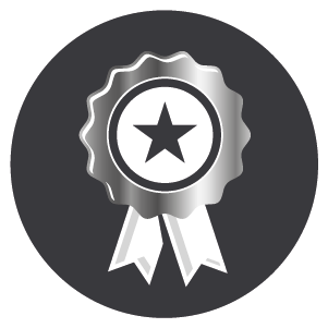 Medal with a black star, conveying that Boiler Bunny Heating has experienced, highly qualified and skilled boiler repair engineers.